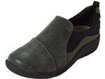 Clarks: Sillian Paz Grey Synthetic Nub