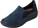 Clarks: Sillian Paz Navy Synthetic Nub