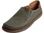Clarks: Trapell Form Olive Canvas