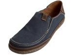Clarks: Trapell Form Navy Canvas