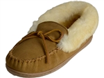 Minnetonka: Alpine Sheepskin Moccasin Golden Tan