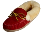 Minnetonka: Alpine Sheepskin Moccasin Red