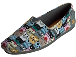 Skechers: Bobs Plush Scratch Party Multi Cat Print