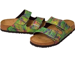 Birkenstock: Arizona Tropical Leaf Green