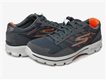 Skechers: 53986 Gowalk 3 - Compete, Charcoal/Orange
