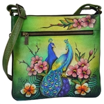 Expandable Travel Crossbody Passionate Peacocks