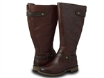 Naturalizer: Tanita Wide Calf Brindle Brown