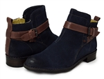 Bussola: Sevilla Strap Ankle Booties Midnight Blue