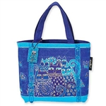 Indigo Cats Small Tote