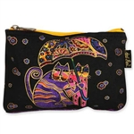 Laurel Burch: Cats Under Umbrella Cosmetic Bag