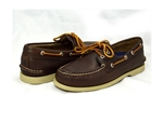 Sperry Topsider: A/O 2-EYE TUMBLED BROWN
