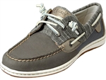 Sperry Topsider: Songfish Metallic Sparkle Medium Gray