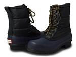 Hunter Boots: Original Quilted Lace-Up Boots Black-Midnight