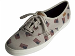 Keds: wf56411 Champion Flag Jacquard Cream