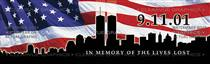 911 Memorial Patriotic Rear Window Graphic