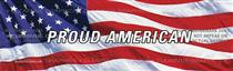 Flag 2 w/ Proud Amer. Patriotic Rear Window Graphic