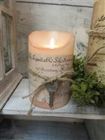 "5"" Vintage Cottage Flameless Candles"