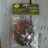 Brown Cord Mini Rice Lights 100 Strand