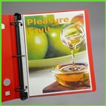 Glass clear top open heavyweight sheet protectors