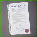 8-1/2 x 14 Sheet Protectors for 3 Ring Legal Binders