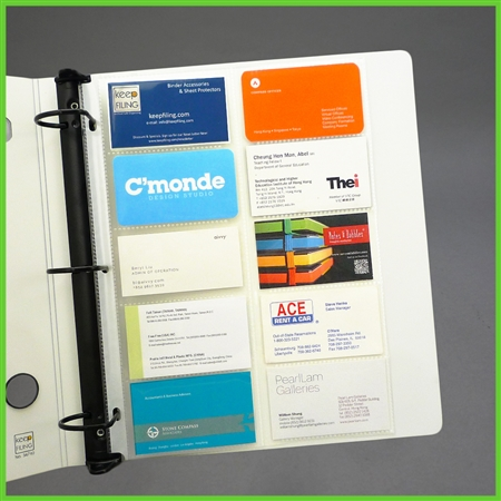 Business Card Pages Business Card Binder Pages For 3 Ring Binder