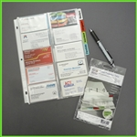 Tabbed Business Card Pages for Binders