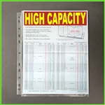 High Capacity Sheet Protectors with Expansion at edge