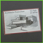 Top Loading 17 x 11 Sheet Protectors Landscape view format - Top Open at 17 inch Side Only
