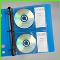 CD Pages with Index Pocket for labels. Sheet-CD