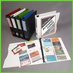 Business Card Binder with Clear Pages