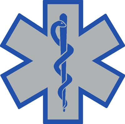 Star Of Life Blue Outline Decal