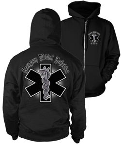 EMT Chrome Zip-Up Hoody