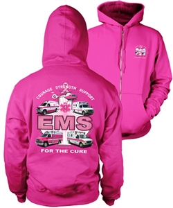 EMS For the Cure(Trucks) Full Zipper Hooded Sweatshirt