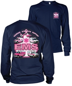 EMS For the Cure(Trucks) Long SleeveT-shirt