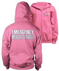 EMT Pink Duty Zip-Up Hoody