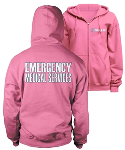 Paramedic Pink Duty Zip-Up Hoody