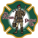 St. Florian Maltese Cross Decal