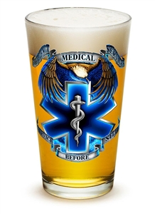 EMS Service Before Self 16oz Pint Glass