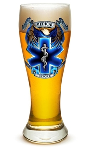 EMS Service Before Self 23oz Pilsner Glass