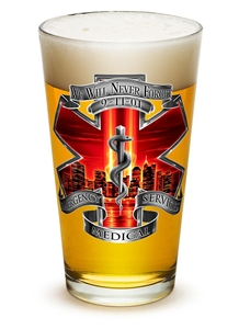 EMS 9/11 We Will Never Forget 16oz Pilsner Glass