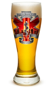 EMS 9/11 We Will Never Forget 23oz Pilsner Glass