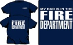 My Dad Is In The Fire Dept. Kids T-Shirt