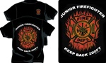 Junior Firefighter Flames Kids T-Shirt