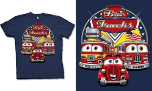 Fire Trucks Kids T-Shirt