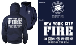 NYC Engine 68 Ladder 49 Hoody