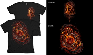 Ying Yang Fire Dragon T-Shirt