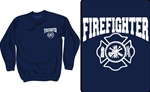 Firefighter Maltese Cross  Crewneck Sweatshirt