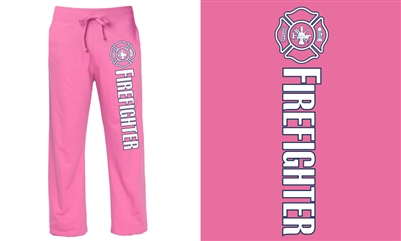 Firefighter Pink Duty Sweatpants