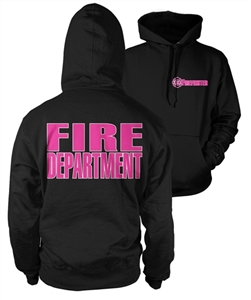 Hooded Firefighter Lifeline Black with pink & white print