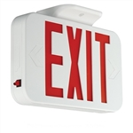 Compass Lighting CEG White Thermoplastic, 120V-277V, Universal Face, Green LED Emergency Exit